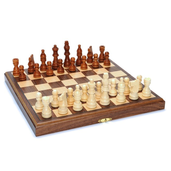 Wood Folding Chess Set – 11.5 inch