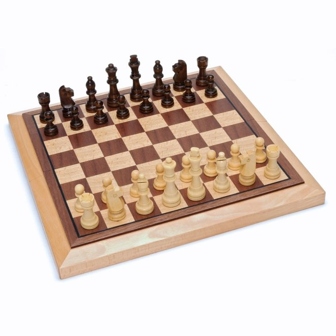 Wood Folding Chess Set – 12 inch