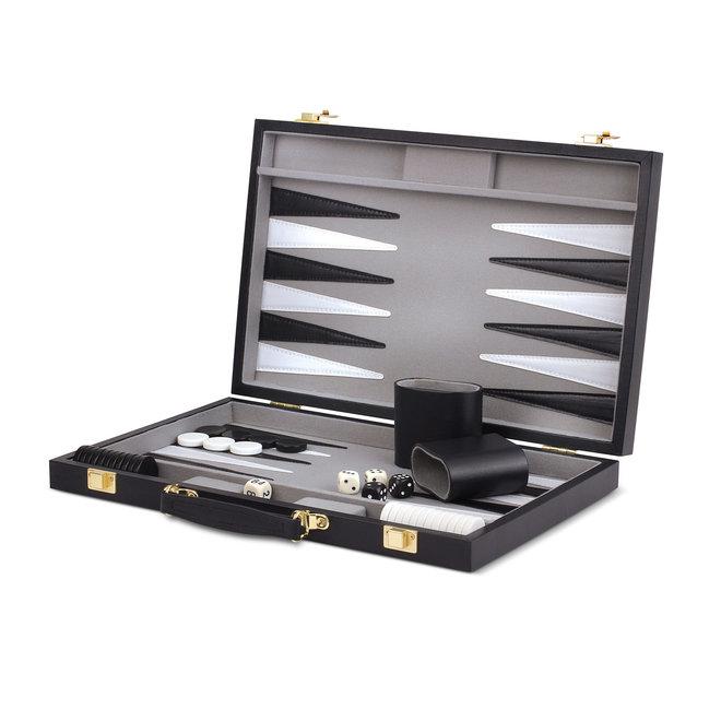 Black Backgammon Set - 15 inch