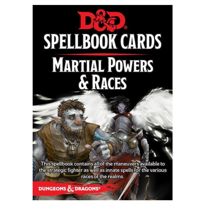 D&D Spellbook Cards: Martial Powers & Race Deck