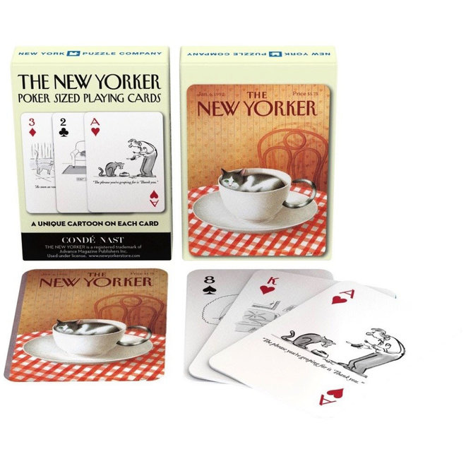 The New Yorker - Cat Cartoon Playing Cards