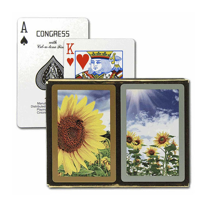 Congress Sunflower Playing Cards - 2 Deck Set
