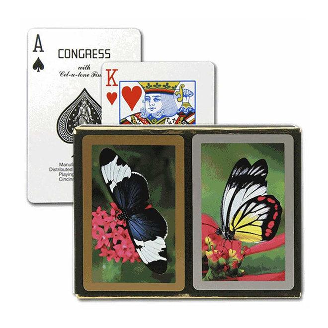 Congress: Butterflies Standard Playing Cards - 2 Deck Set