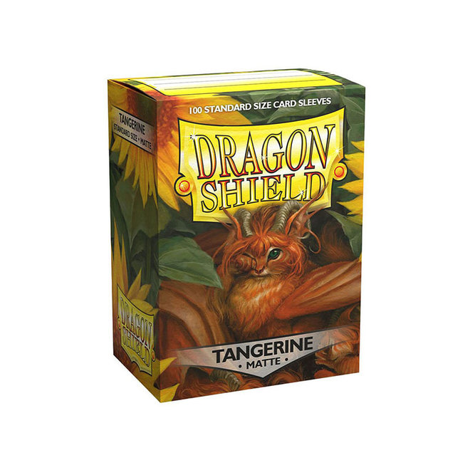 Dragon Shield: Matte Sleeves - Tangerine