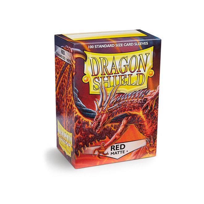 Dragon Shield: Matte Sleeves - Red