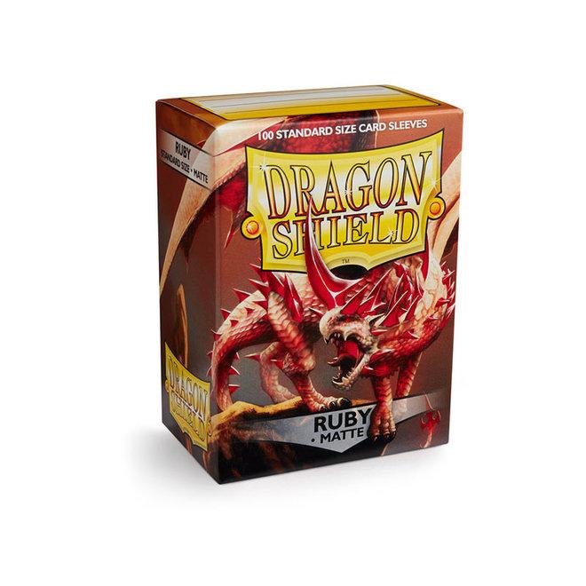 Dragon Shield: Matte Sleeves - Ruby