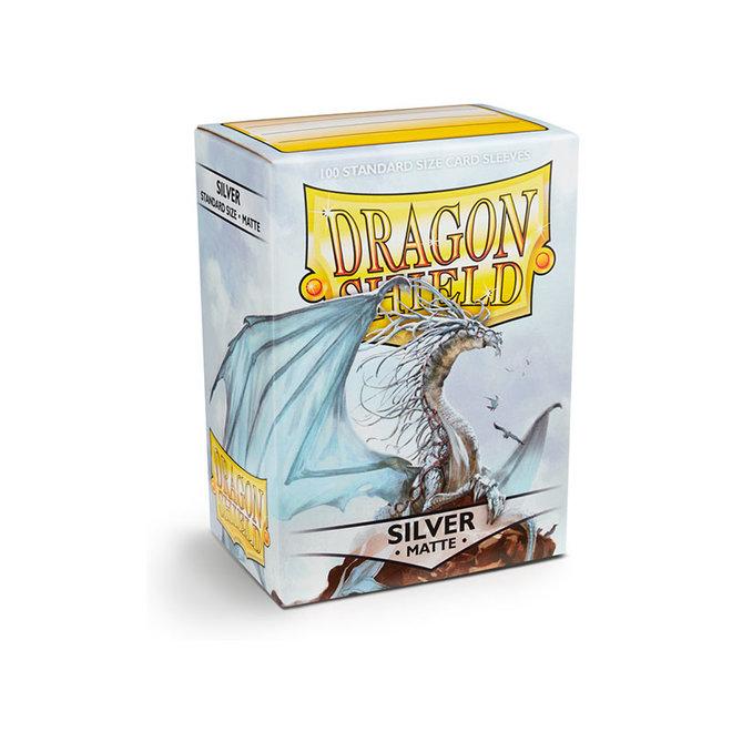 Dragon Shield: Matte Sleeves - Silver