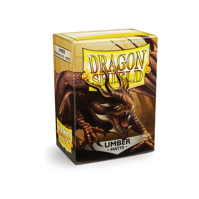 Dragon Shield: Matte Sleeves - Umber