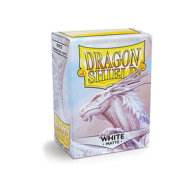 Dragon Shield: Matte Sleeves - White