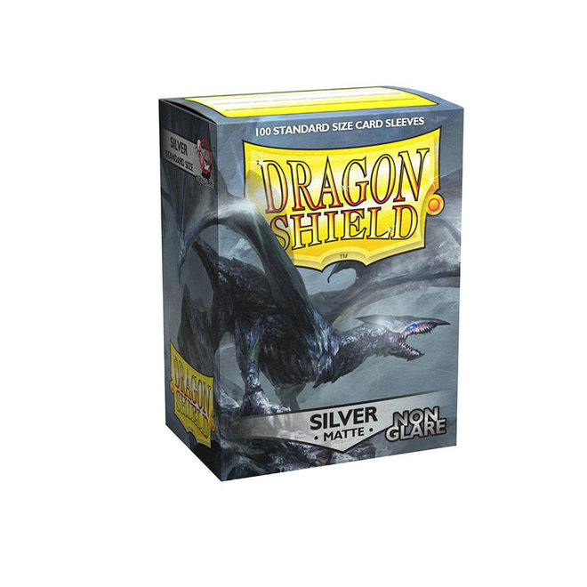 Dragon Shield: Matte Non-Glare Sleeves - Silver