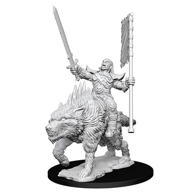 Pathfinder: Orc on Dire Wolf
