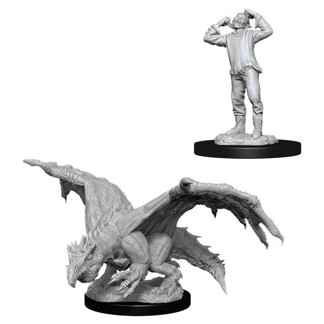 D&D: Green Dragon Wyrmling & Afflicted Elf