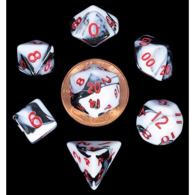 Mini: Marble - Black, White, & Red