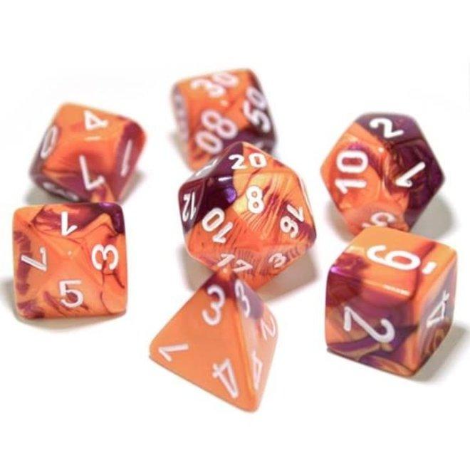 Lab Dice: Gemini - Orange, Purple, & White