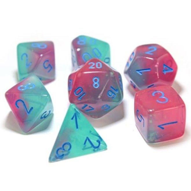 Lab Dice: Luminary Gemini - Green, Pink, & Blue