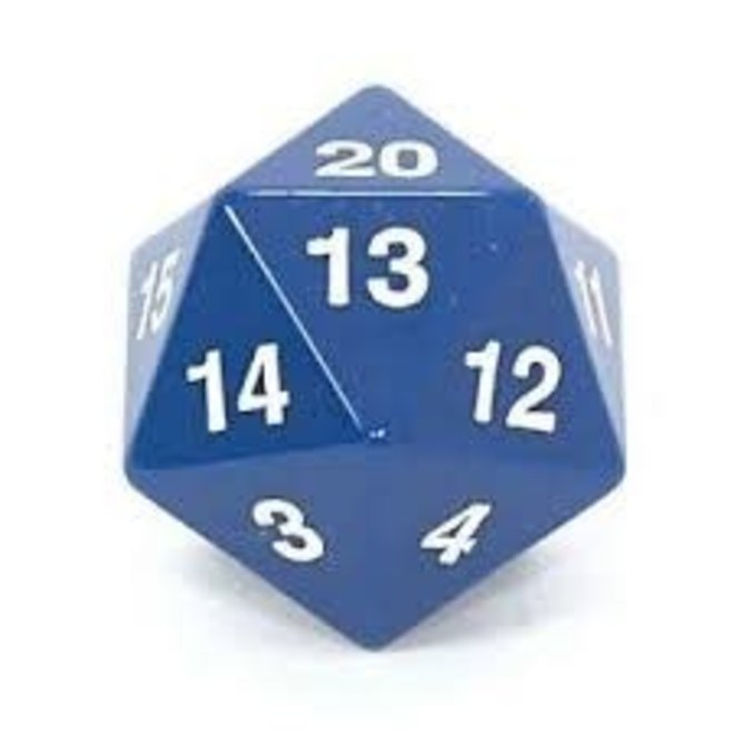 D20 Countdown 55mm  -  Blue & White