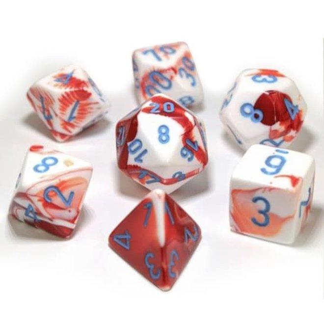 Lab Dice: Gemini - Red, White, & Blue