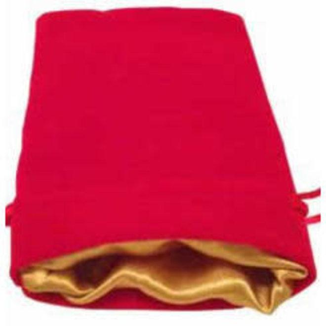 Dice Bag (Sm) - Red & Gold