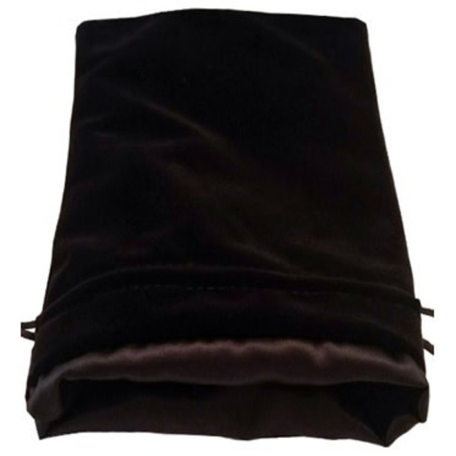Dice Bag (Lg) - Black & Black