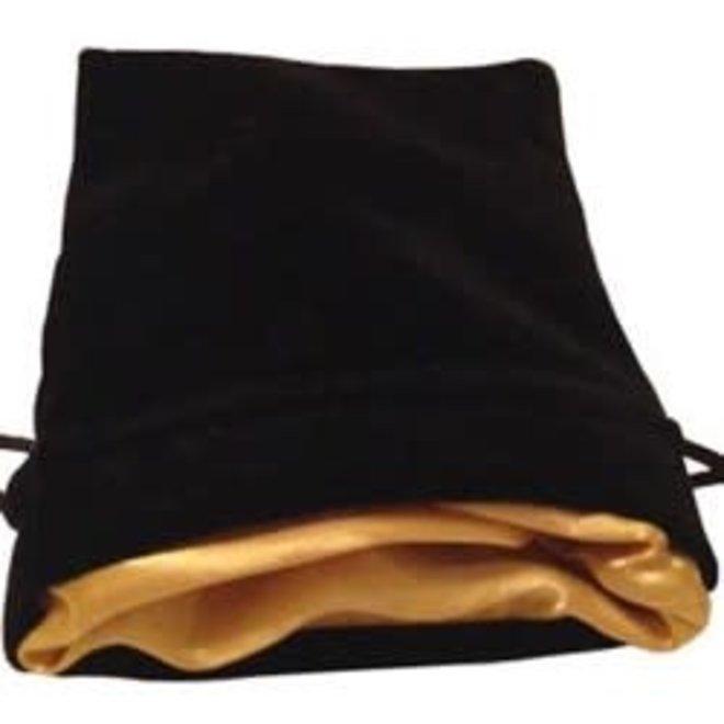 Dice Bag (Sm) - Black & Gold