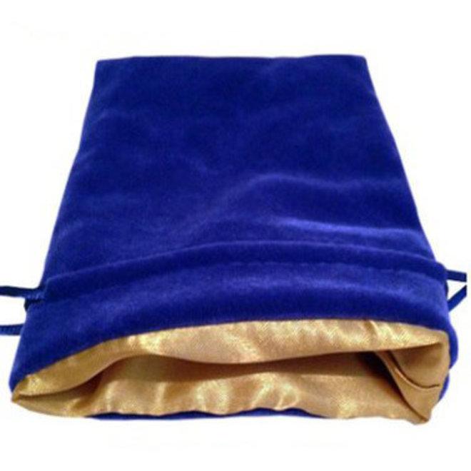 Dice Bag (Lg) - Blue & Gold