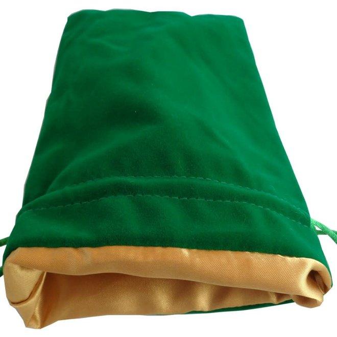 Dice Bag (Lg) - Green & Gold