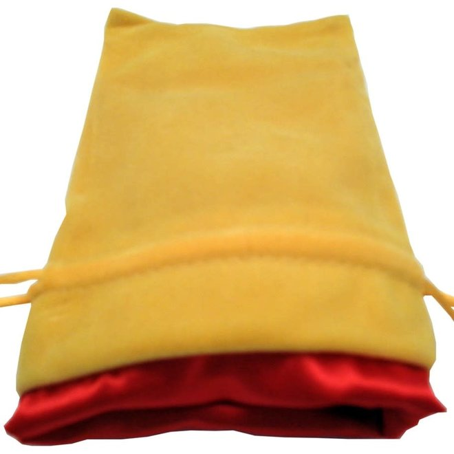 Dice Bag (Sm) - Gold & Red