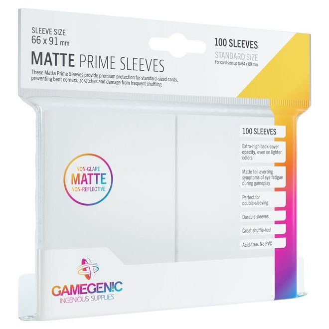 Matte Prime Sleeves - White
