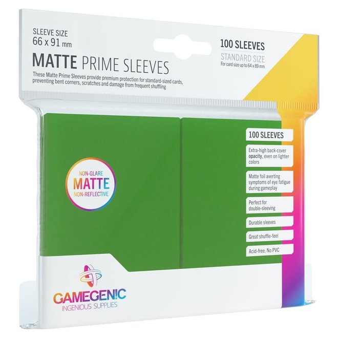 Matte Prime Sleeves - Green
