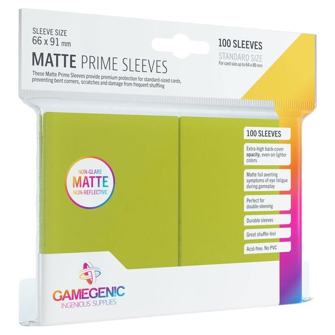 Matte Prime Sleeves - Lime Green