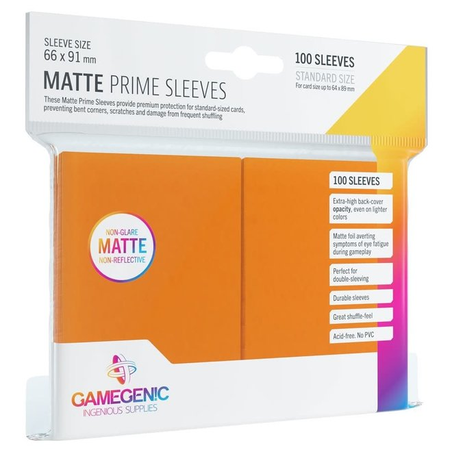 Matte Prime Sleeves - Orange