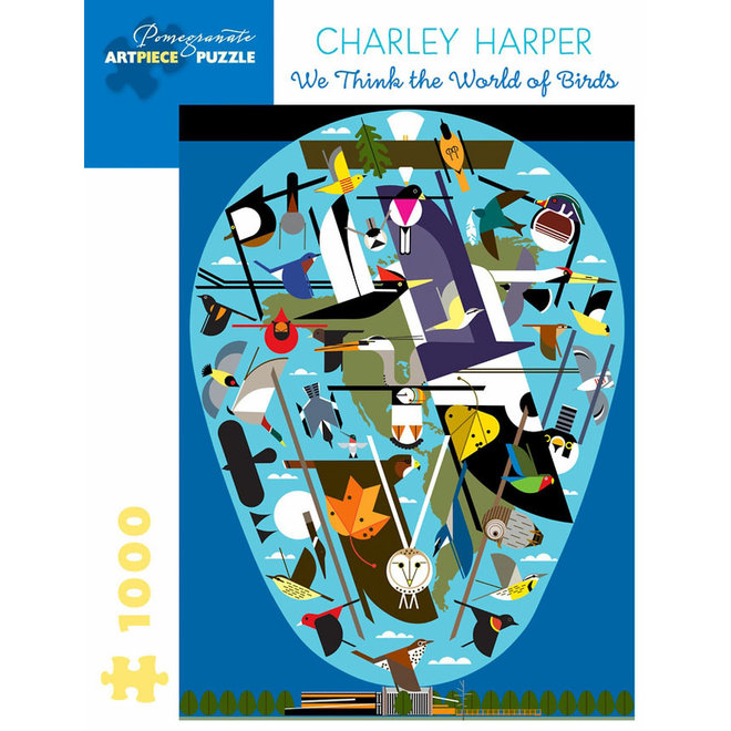 Charley Harper: The World of Birds - 1000 pcs