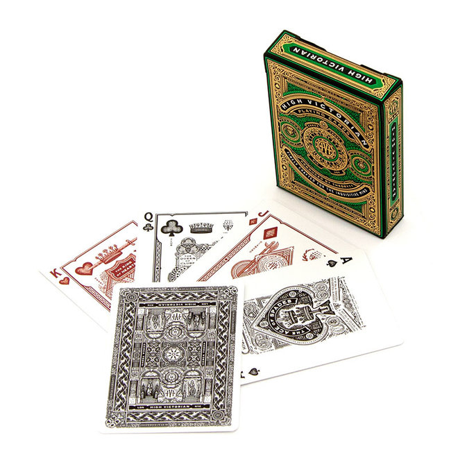 Theory-11 High Victorian Red/Green Playing Cards