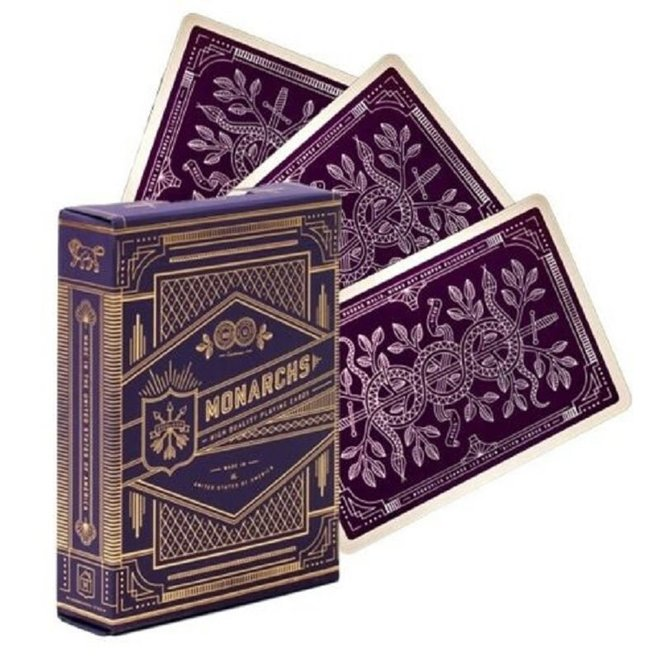 Theory-11 Purple Monarchs Playing Cards