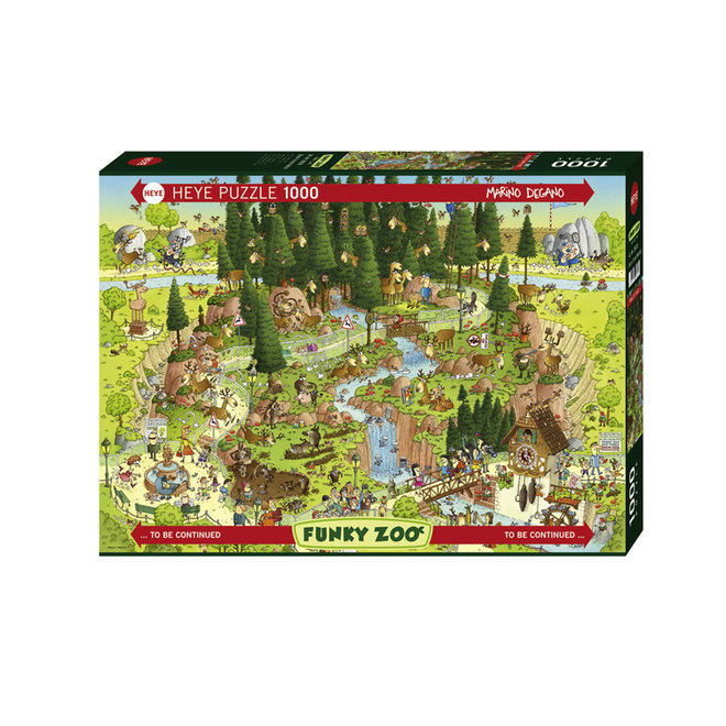 Funky Zoo: Black Forest Habitat - 1000 pcs