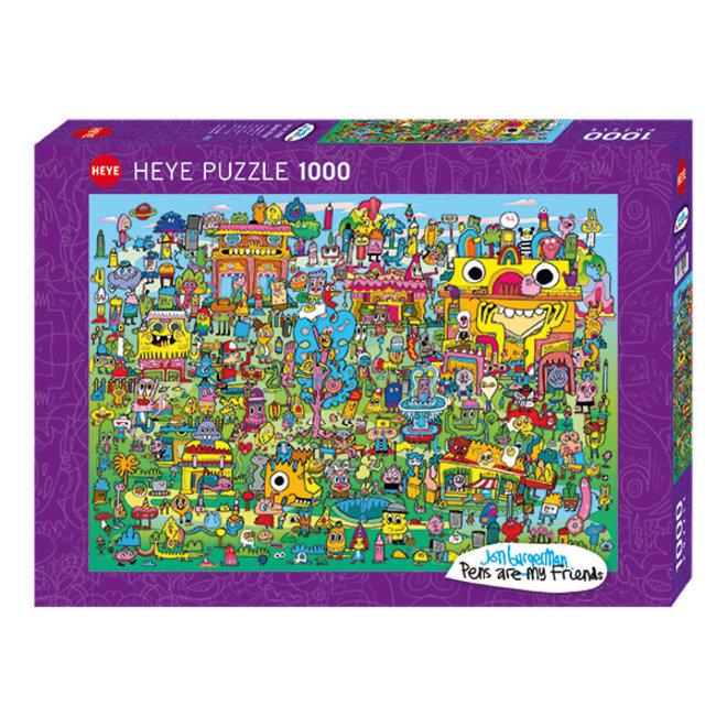 Burgerman: Doodle Village - 1000 pcs