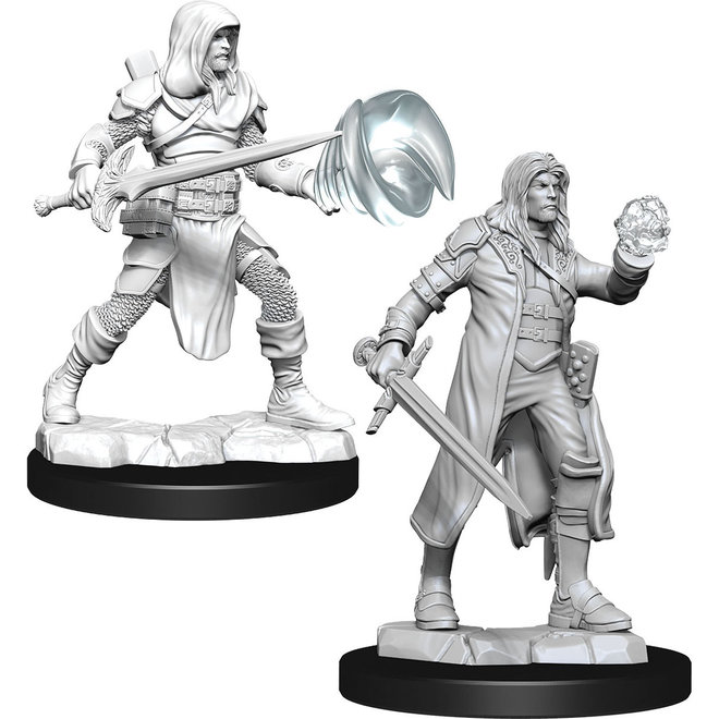 D&D: Multiclass Fighter + Wizard Male