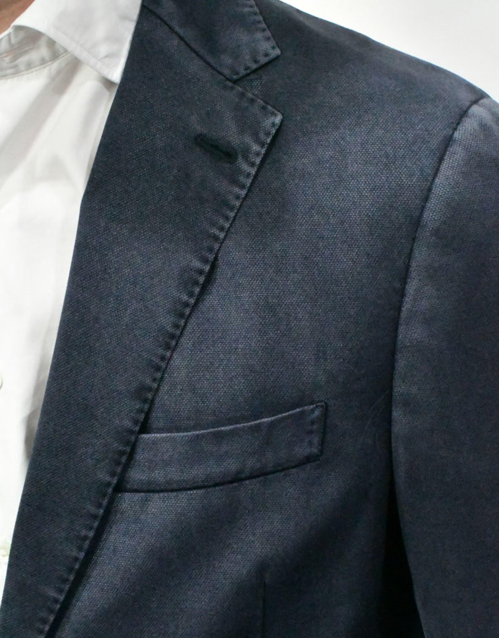Eleventy Eleventy Navy Wool Pique Sport Coat