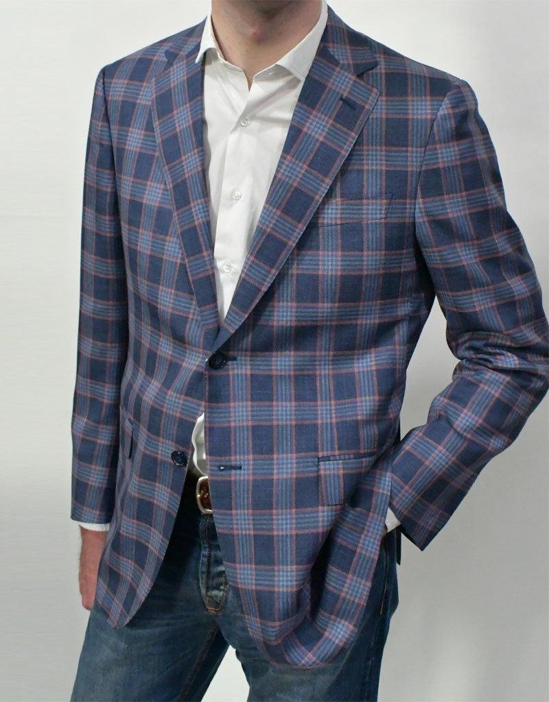 Ravazzolo Ravazzolo Blue/Raspberry Plaid Sport Coat