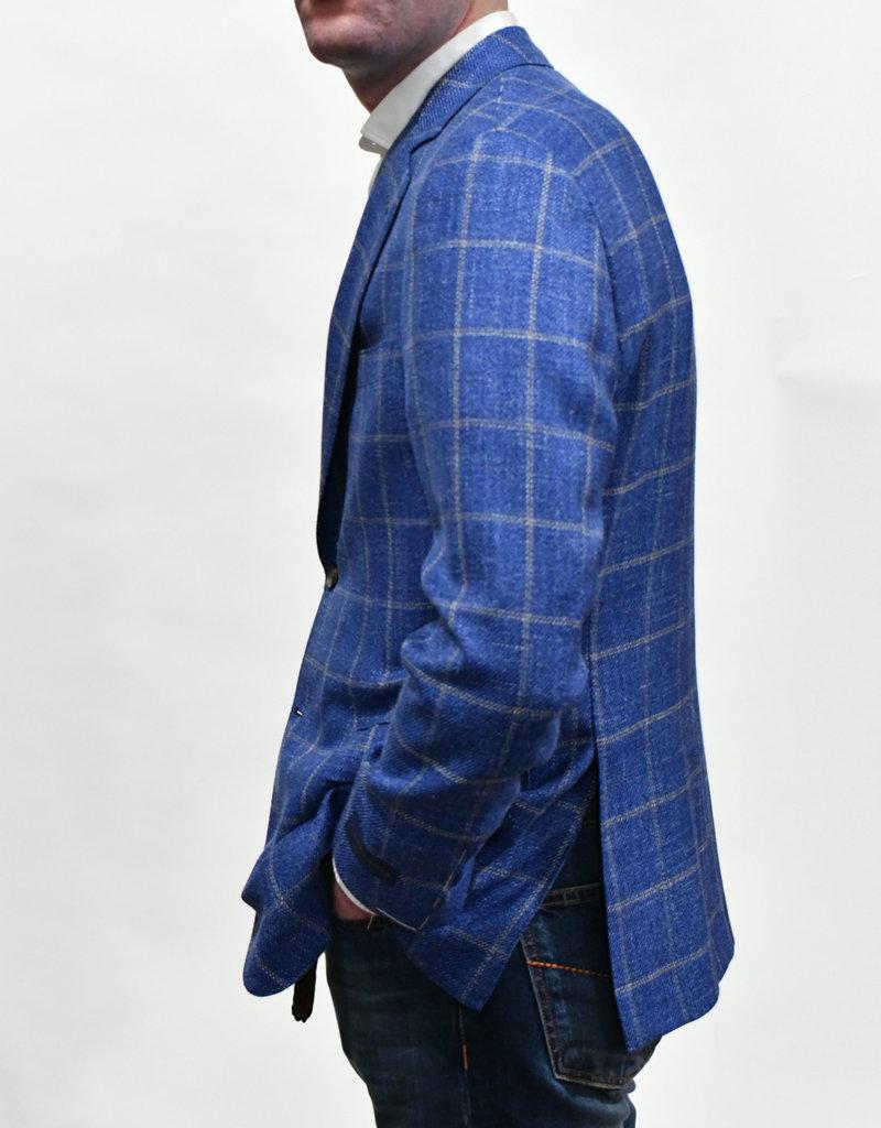 Castangia Castangia Blue Windowpane Sport Coat