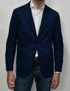 Boglioli Boglioli Blue Pique Soft Coat