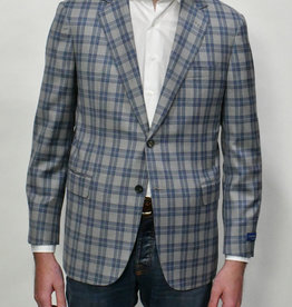 Castangia Castangia Blue Grey Glen Plaid  Sport Coat