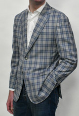 Castangia Castangia Blue Grey Glen Plaid  Sport Coat