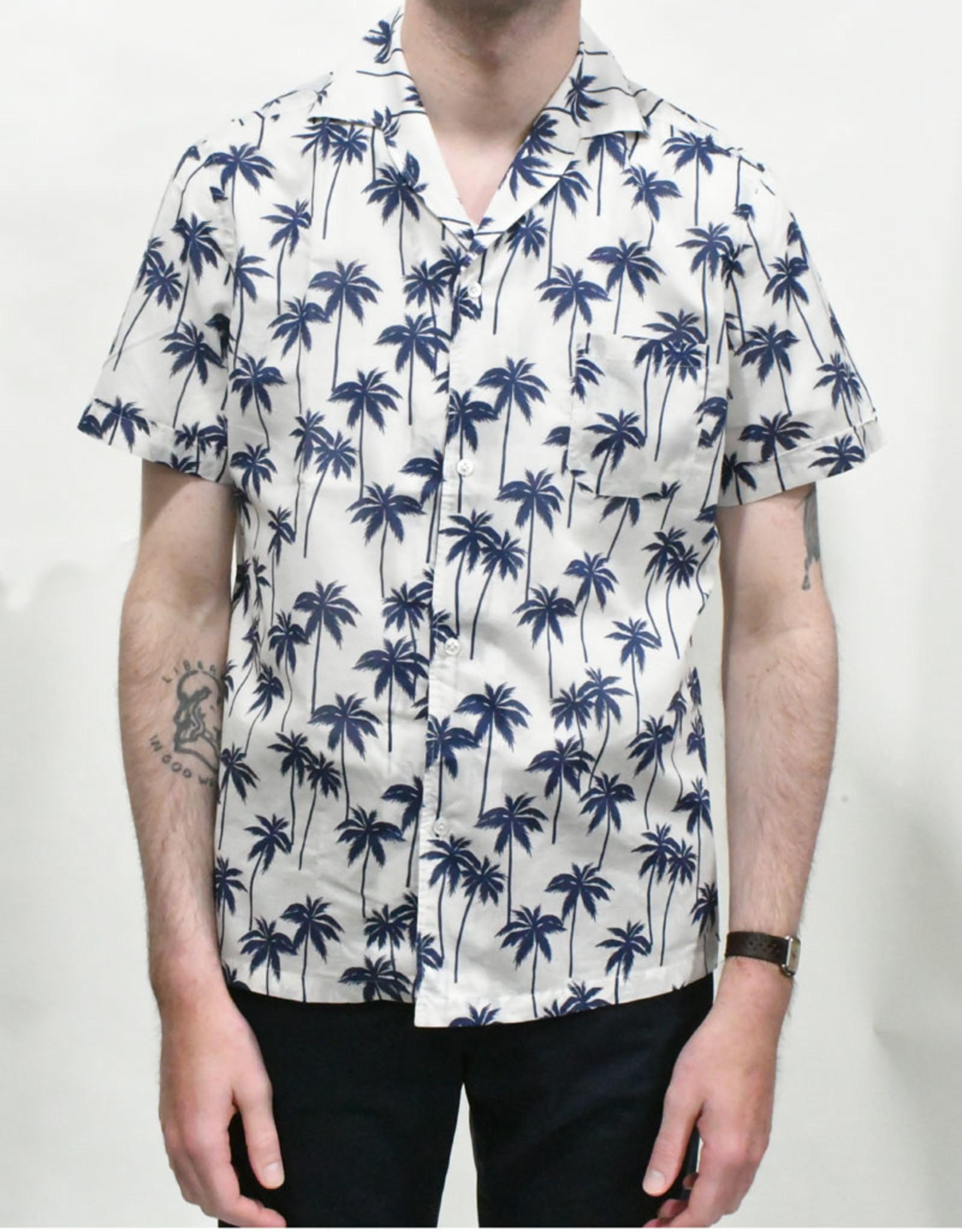 Lardini Lardini Elgian Navy Palm SS Sport Shirt