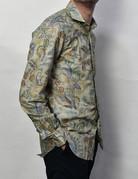 Barba Barba LS Sportshirt Green Paisley