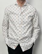 Stenstroms Stenstroms LS White w/Bugs Sport Shirt