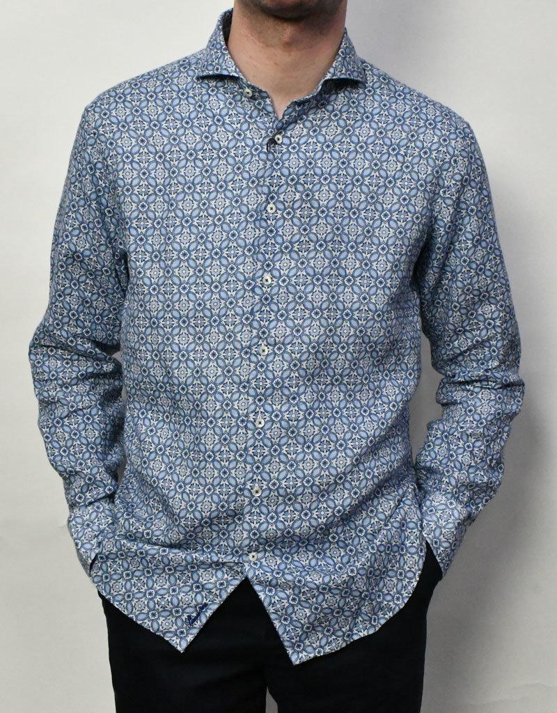 Stenstroms Stenstroms LS  Blue Floral Sport Shirt