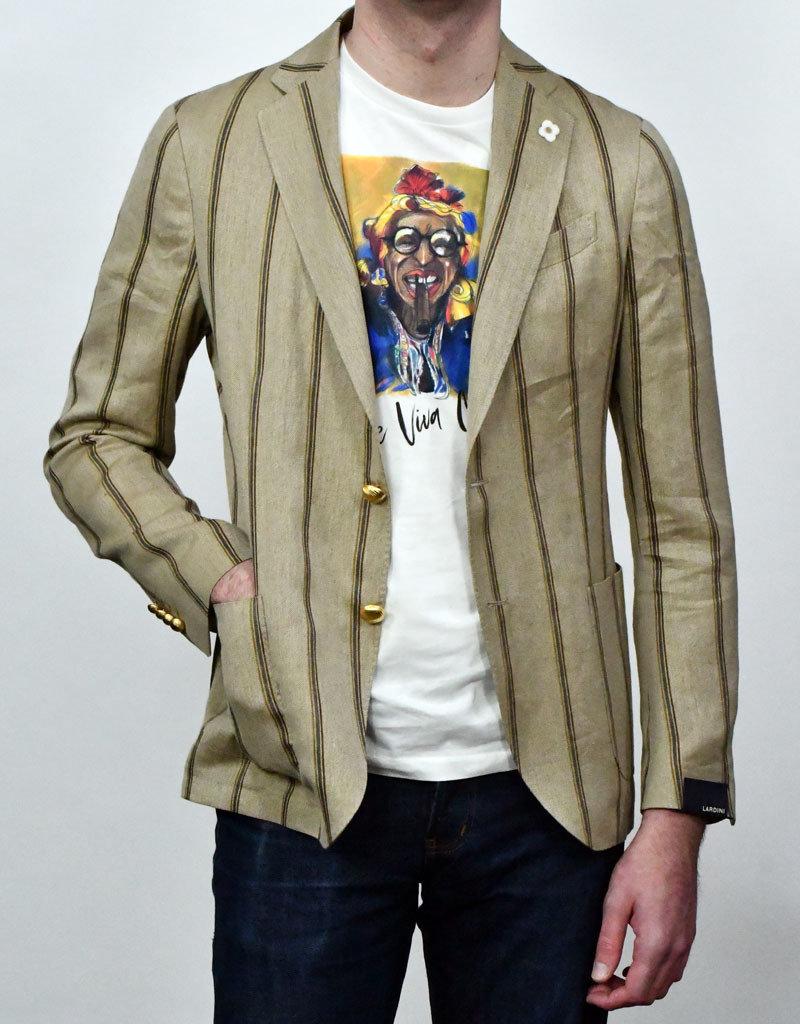 Lardini Lardini Tan Stripe Linen Sportcoat