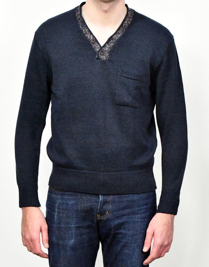 Inis Meain Inis Meain  Hurler Neck Sweater