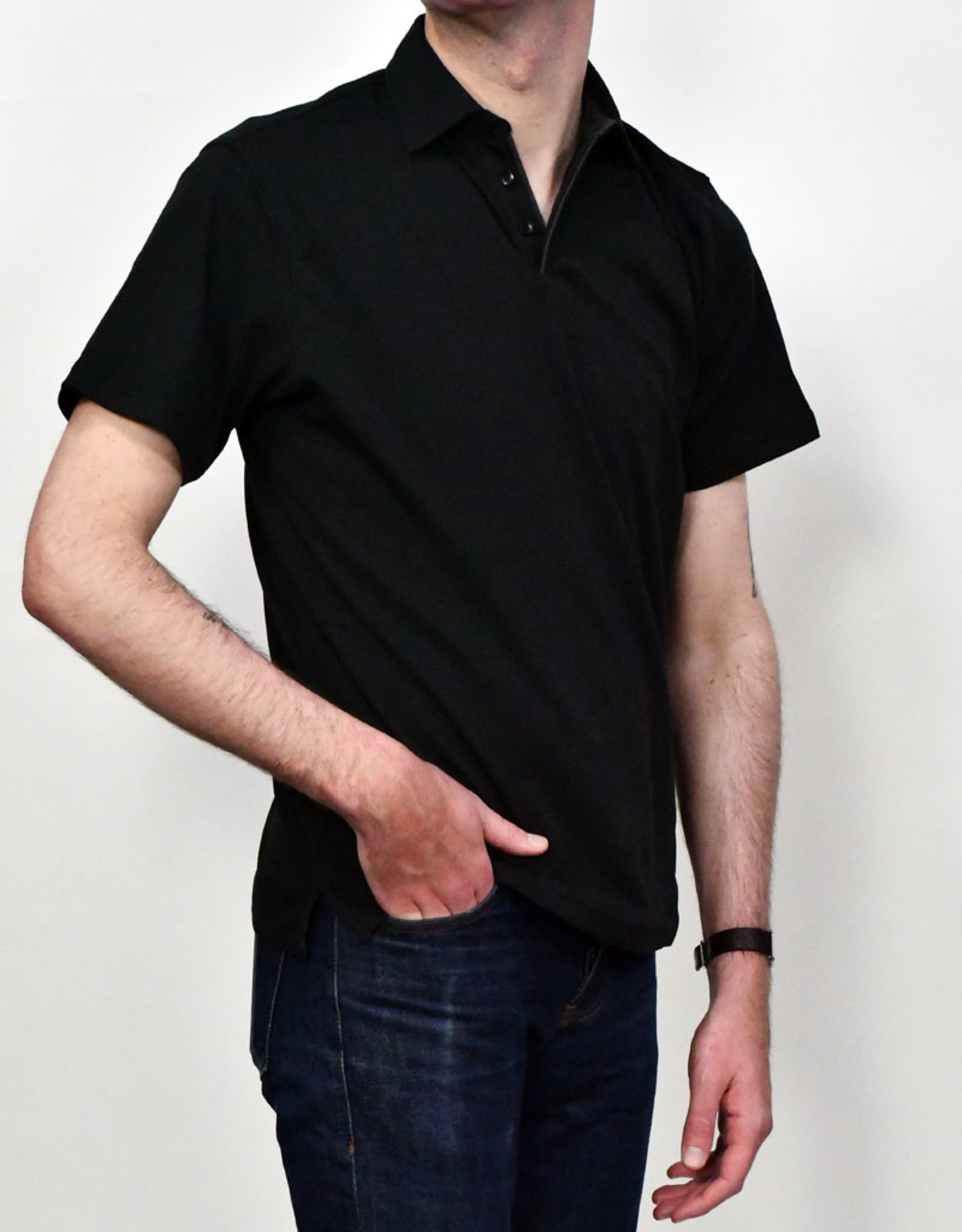 Left Coast Tee LCT  Piped Collar SS Tee